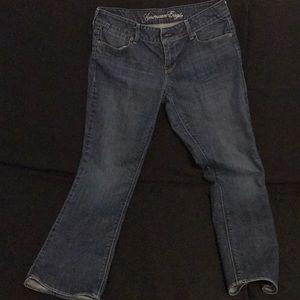 American eagle women's blue jeans